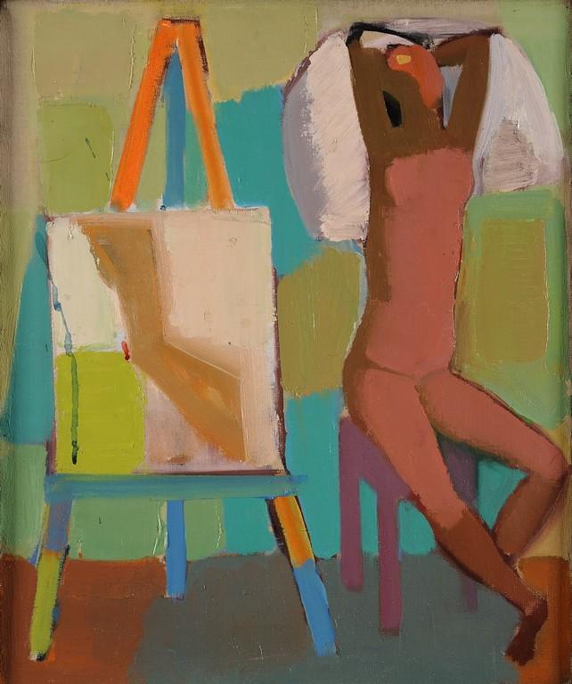 <p>Натюрморт - ателие, маслени бои/платно</p>