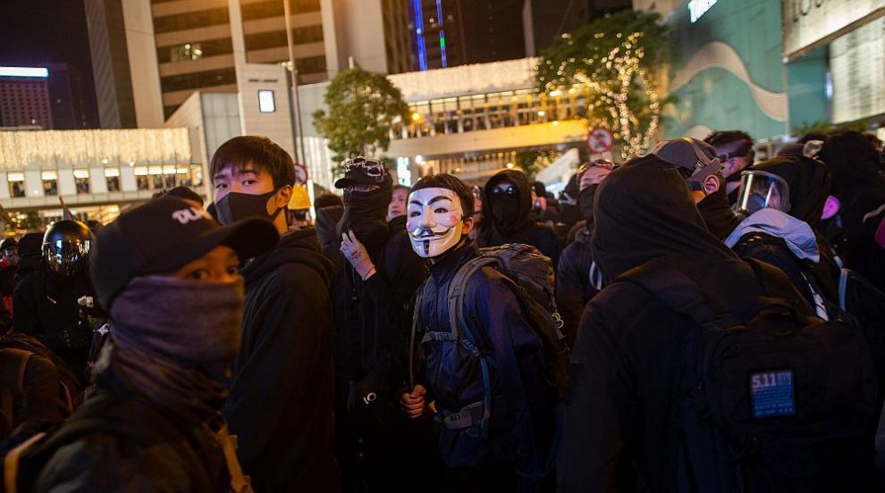 Десетки хиляди отново на протест в Хонконг (СНИМКИ/ВИДЕО)