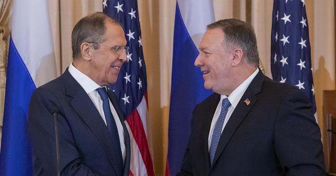 Държавният секретар на САЩ Майк Помпейо предупреди руския външен министър