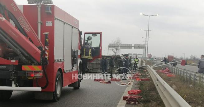 Снимка: Тежка катастрофа на Северната тангента в София