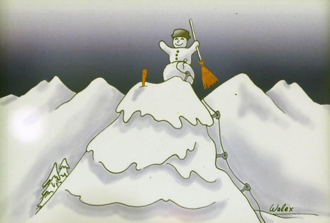 <p>Валери Александров Снежен човек покорил върха</p>