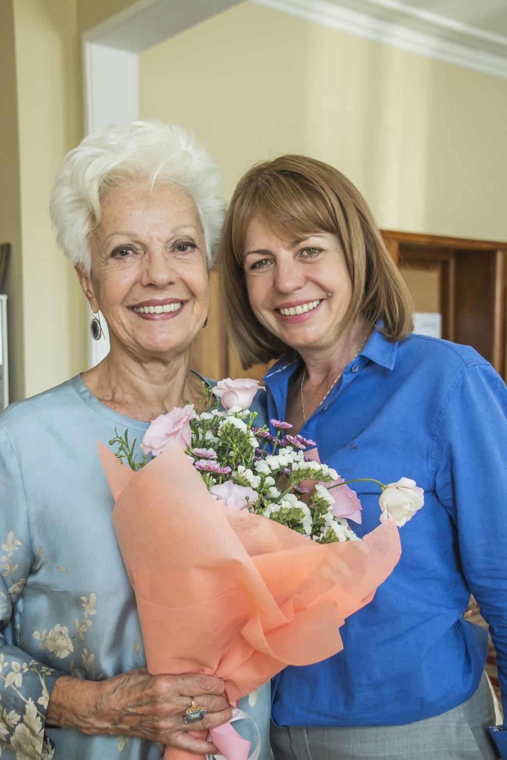 Райна Кабаиванска и столичния кмет Йорданка Фандъкова