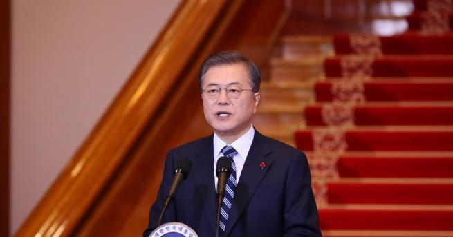 Южнокорейският президент Мун Дже-ин днес изрази надежда, че севернокорейският лидер