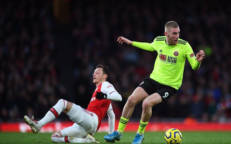 Отборът на Арсенал завърши наравно 1:1 с Шефийлд Юнайтед в