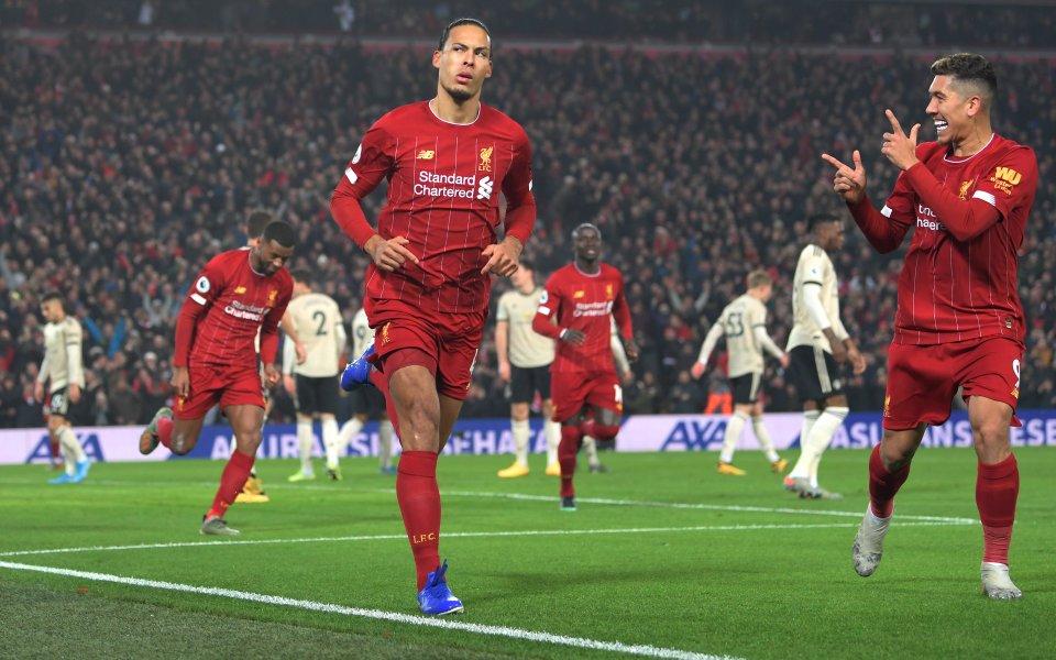 Отборите наЛивърпул и Манчестър Юнайтедиграят при резултат 1:0 в най-голямото