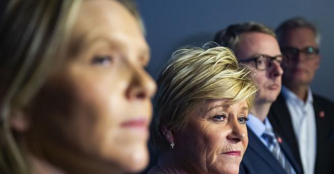 Норвежката популистка десница напусна днес десноцентристкото коалиционно правителство в Осло,