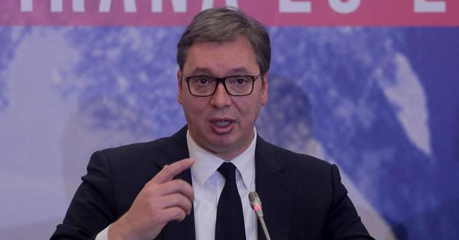 Сръбският президент Александър Вучич заяви днес в Давос, че не