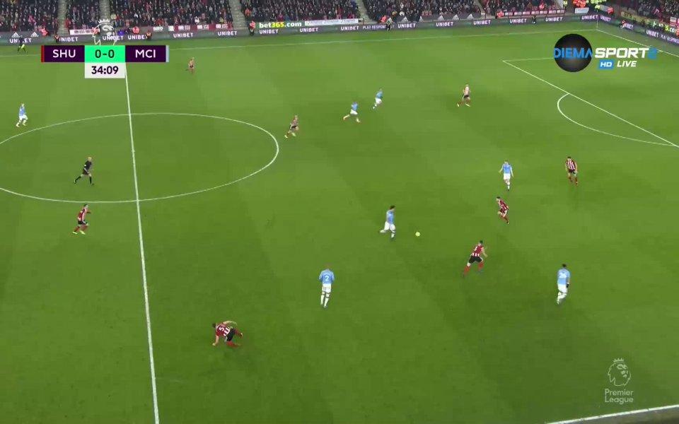 Шефилд Юнайтед - Манчестър Сити 0:0 /първо полувреме/