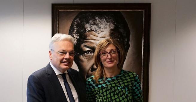 Вицепремиерът и министър на външните работи Екатерина Захариева се срещна