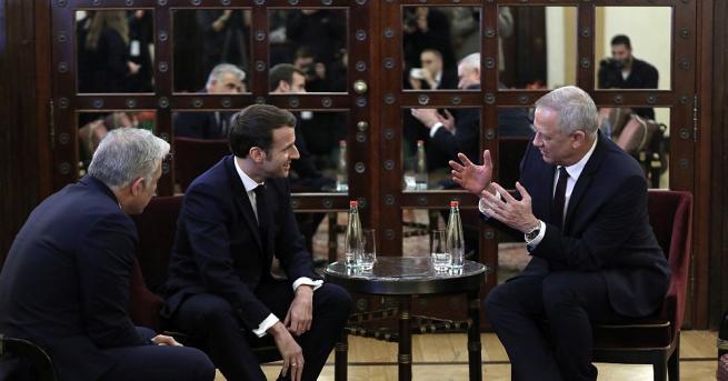 Френският президент Еманюел Макрон заяви днес в Ерусалим, че отричането