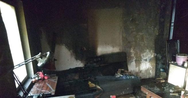 Пловдивските огнеборци за минути загасиха пожар, пламнал в 7:40 ч.