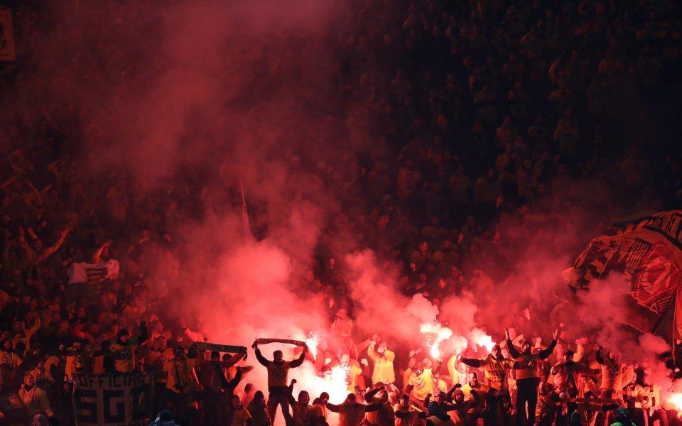 Лудост! Вчера 4000 фенове посетиха последната тренировка на Динамо Дрезден