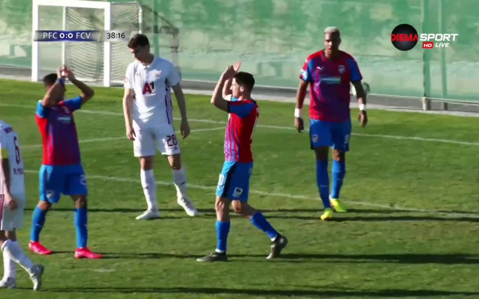 Виктория Пилзе откри резултата след 39 минути игра срещу ЦСКА.