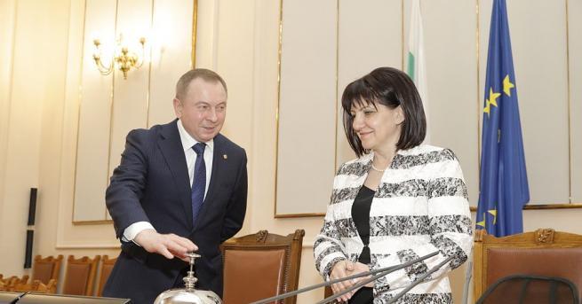 Председателят на Народното събрание Цвета Караянчева разговаря с министъра на