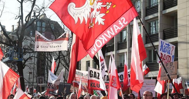 Хилядна демонстрация се състоя днес във Варшава в знак на