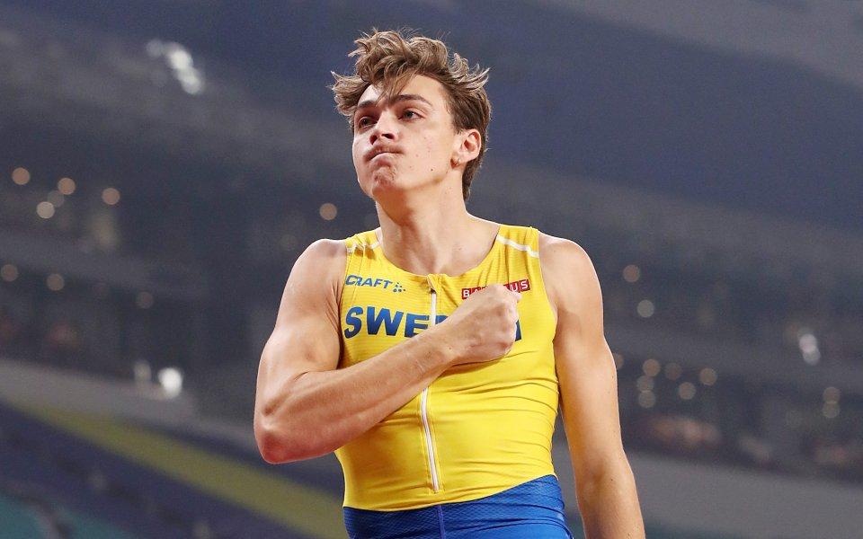 Шведът АрманДюплантис постави нов световен рекорд в овчарския скок по