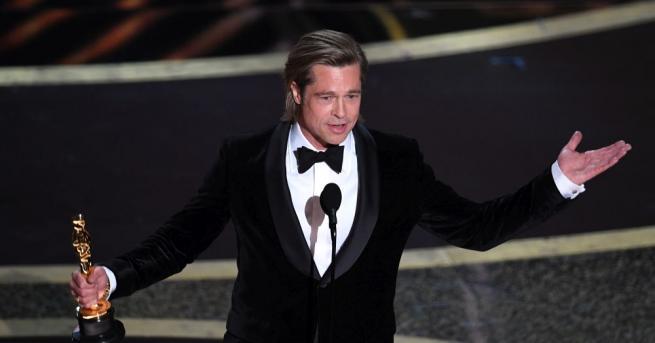 """Брад Пит спечели """"Оскар"""" за най-добър актьор в поддържаща роля"""