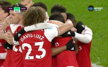 Арсенал успя да пречупи Нюкасъл