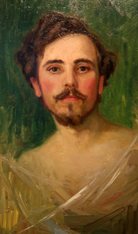 <p>Портрет на млад мъж - автопортрет, 1910 г.</p>