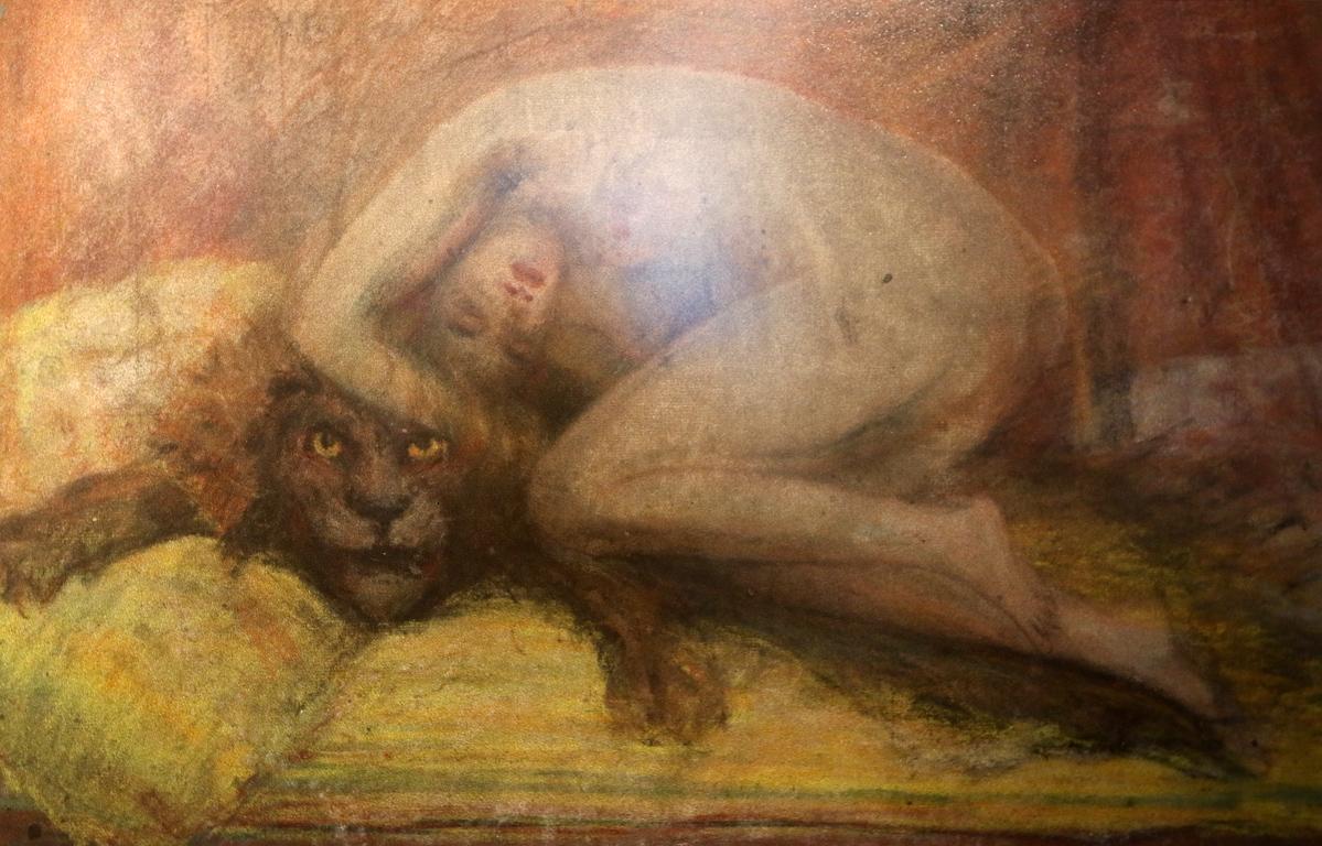 <p>Голо женско тяло върху лъвска кожа, 1927 г.</p>