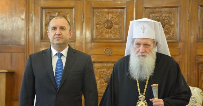 Днес в Синодната палата Българският патриарх Неофит прие президента Румен
