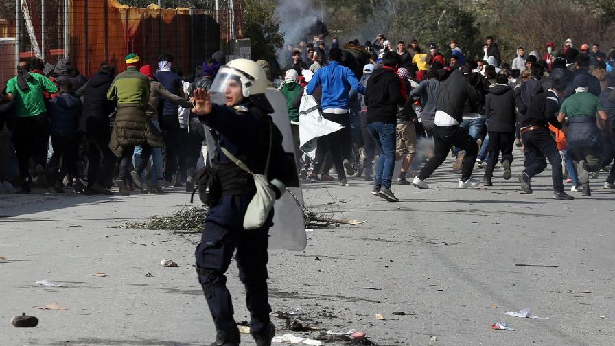 Мигранти на гръцко-турската граница