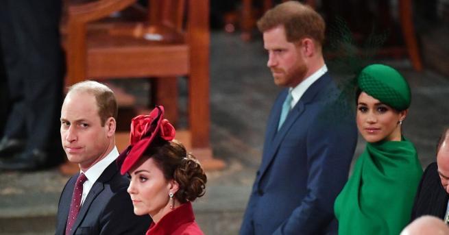 Любопитно Драматично кралско събиране: Уилям и Хари не се поздравиха