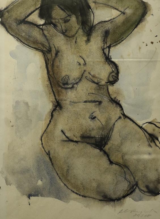 <p>Светлин Русев</p>  <p>Голо тяло, 1970 акварел, хартия</p>