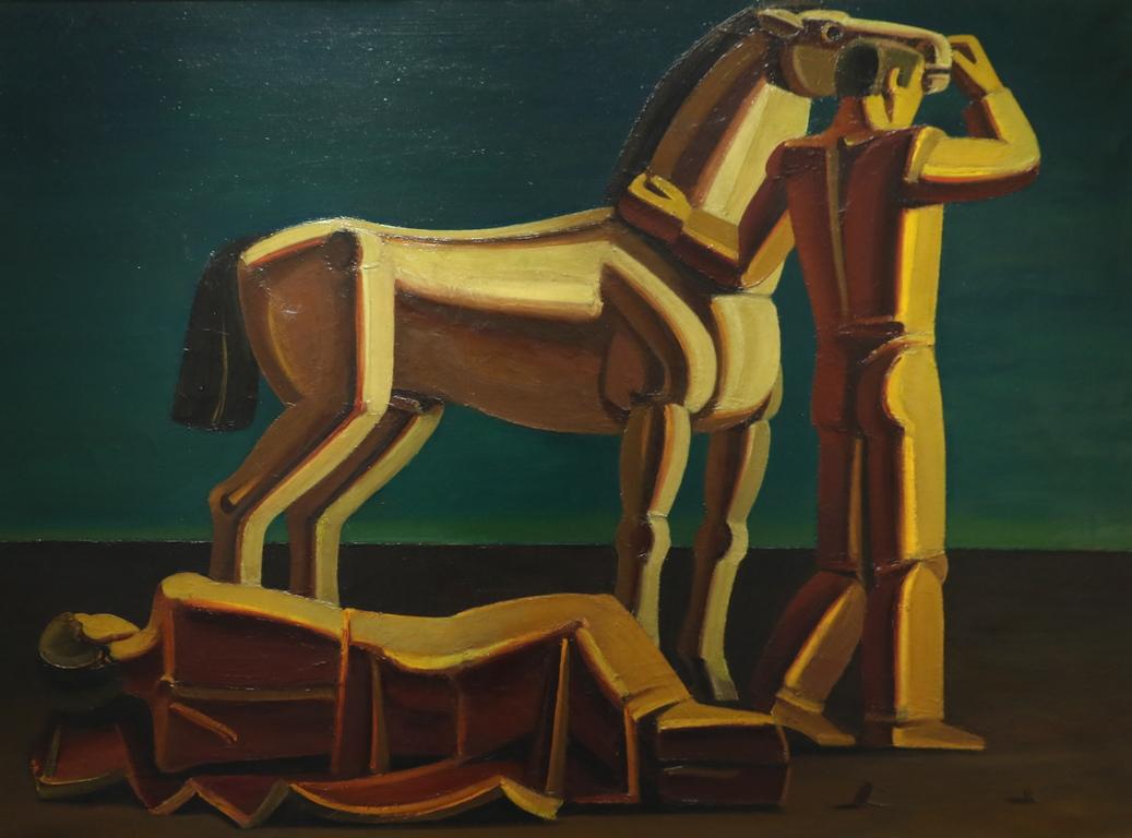 <p>Атанас Яранов</p>  <p>Композиция, 1976 маслени бои, платно</p>
