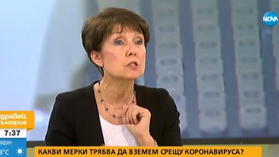 На снимката: Пулмологът София Ангелова