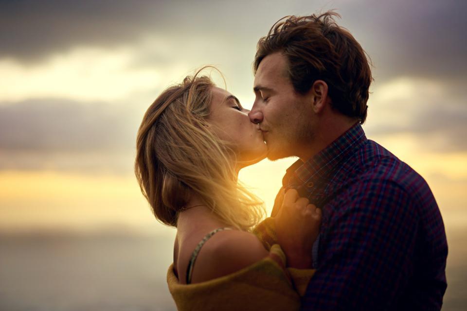 любов двойка връзка романтика залез