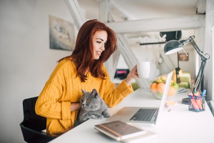 """<p><strong>Обособете свое собствено работно пространство</strong></p>  <p>Важно е да определите своето лично работно пространство, където да можете да се концентрирате. Изберете бюро или маса, където се чувствате добре, имате достатъчно дневна светлина или пък гледка от прозореца. Аранжирайте пространството си с всичко, което ви кара да се чувствате добре и продуктивни &ndash; цветя, тефтер, книги, любимата ви чаша за кафе. Но не пропускайте и удобствата в технологичен план &ndash; ако ще работите от вкъщи, винаги е добре да имате под ръка бърз и многофункционален <u><strong><a href=""""https://www.vivacom.bg/bg/residential/ustrojstva/laptopi/acer-swift-3.html"""" target=""""_blank"""">лаптоп</a></strong></u>, който да замени служебния ви компютър.</p>"""