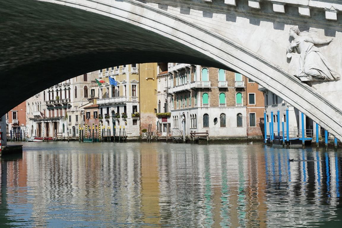<p>С изчезналите круизни корабчета и туристите природата превзема отново Венеция</p>