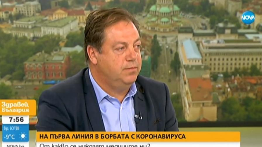 На снимката: председателят на БСЛ д-р Иван Маджаров
