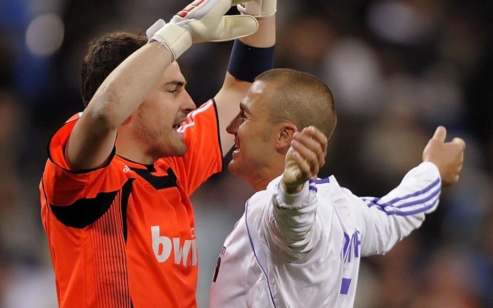 Бившите звезди на Реал Мадрид Фабио Канаваро и Икер Касияс