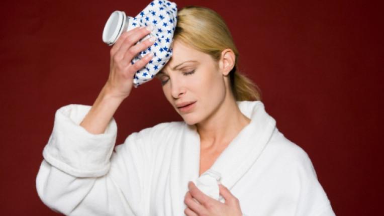компрес загряване възпаление оток мигрена превръзка фризер