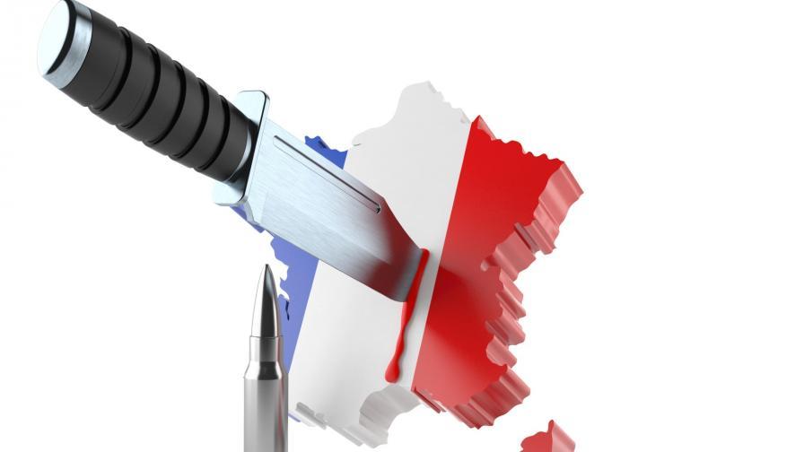 <p>Терор във Франция: нова атака с нож</p>