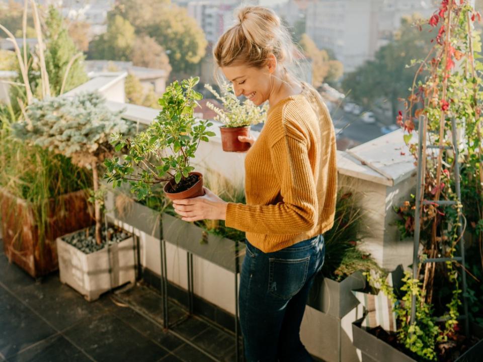 пролет жена балкон