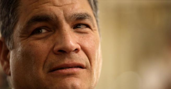 Бившият президент социалист на Еквадор Рафаел Кореа, живеещ в Белгия,