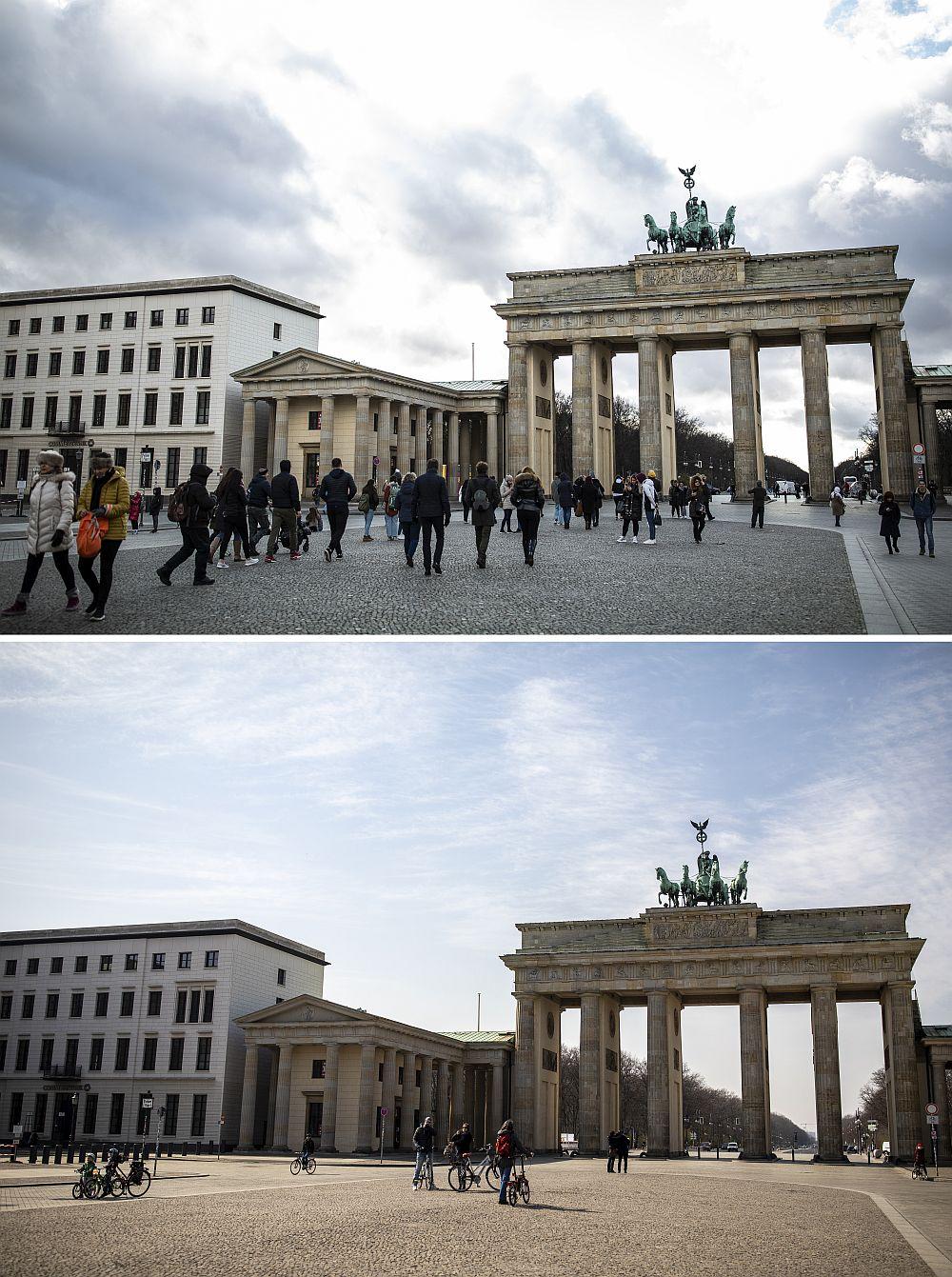 Безлюдно и студено по улиците на Берлин (ГАЛЕРИЯ)