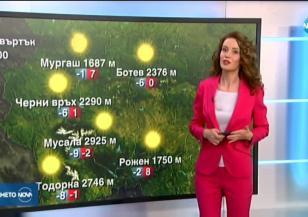 Прогноза за времето (08.04.2020 - централна емисия)