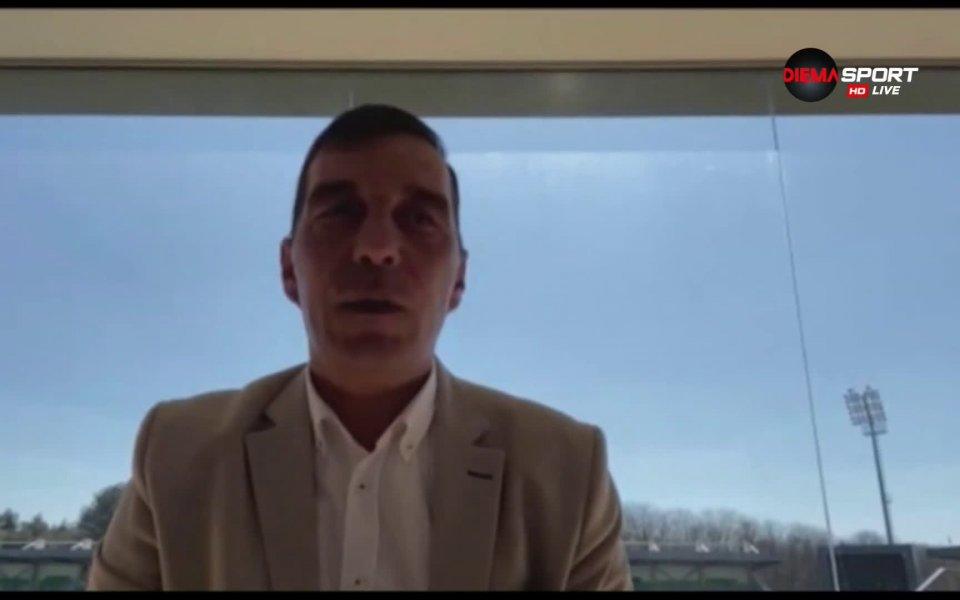 Изпълнителният директор на Лудогорец Ангел Петричев даде интервю за предаването