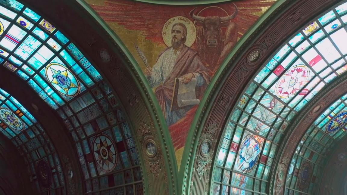 <p>Катедралата &bdquo;Възкресение Христово&rdquo; край Москва</p>