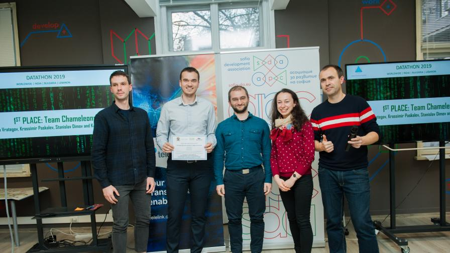 Отборът победител в #GlobalDatathon2019
