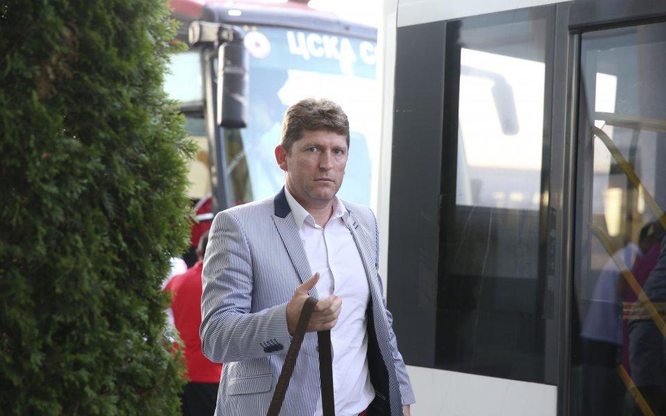 Главният мениджър на ЦСКА Стойчо Стоилов беше забелязан от камерите