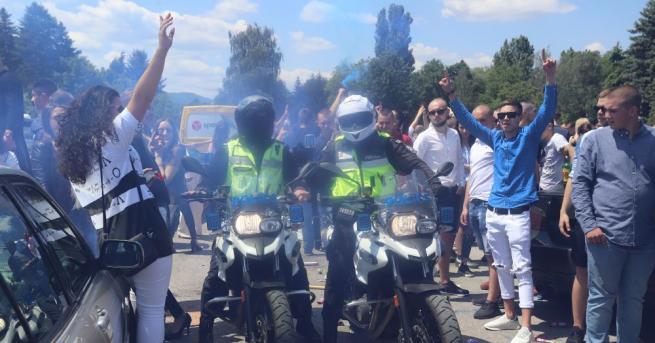 Полицията изгони абитуриентите, които бяха планирали да си направят изпращане