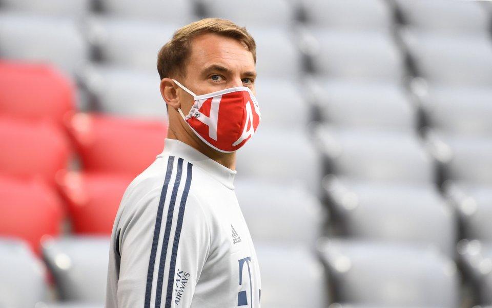 Вратарят и капитан на Байерн Мюнхен Мануел Нойер остана изключително