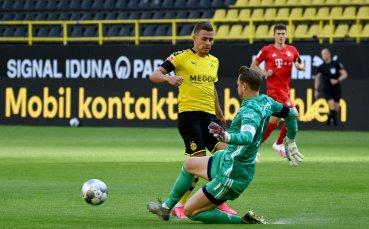 НА ЖИВО: Борусия Дортмунд - Байерн Мюнхен, гостът води след страшен гол на Кимих
