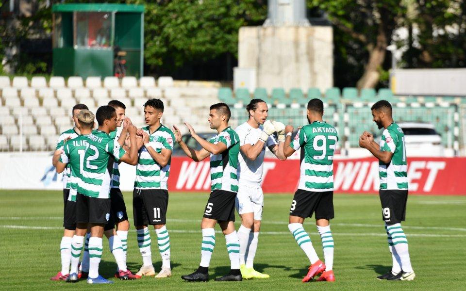 Отборътна Черно море победиЕтър с 2:0в контролна среща, игранана стадион