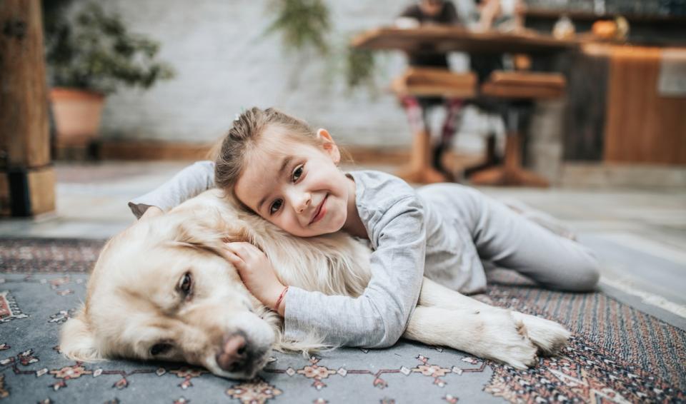 дете деца бебе куче домашен любимец